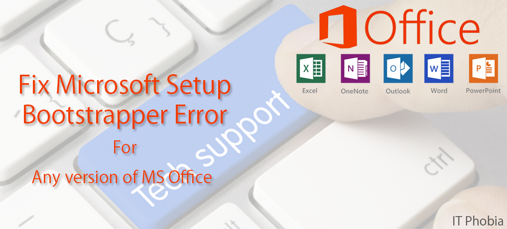 Microsoft setup bootstrapper has stopped working Featured image